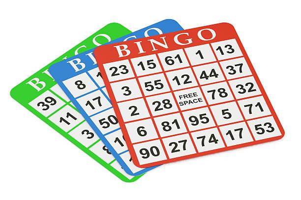 bingo cards, 3D rendering圖像檔