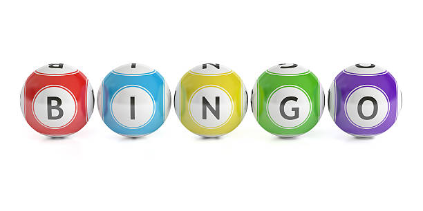 Bingo concept, lottery balls. 3D rendering圖像檔