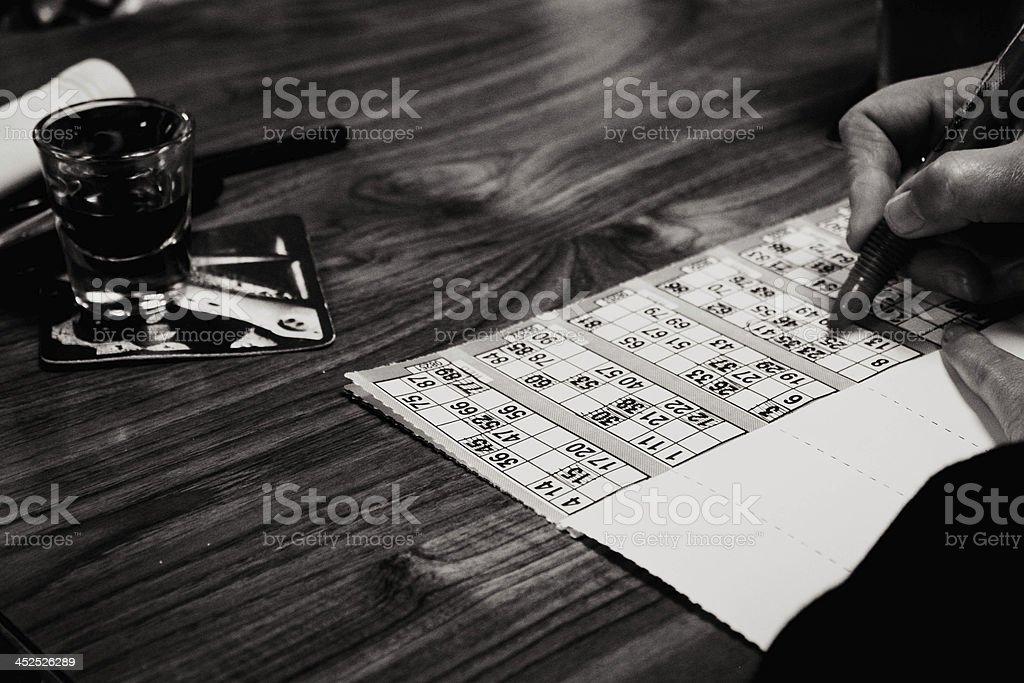 Bingo in a pub stock photo