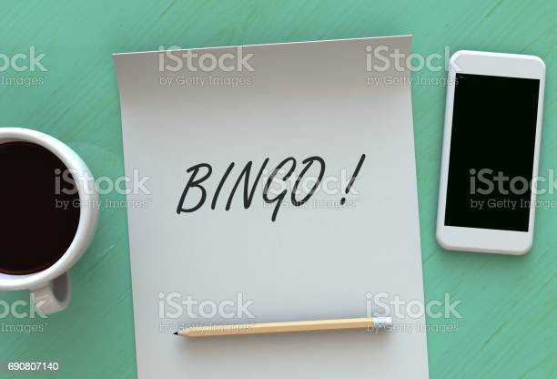 Bingo message on paper smart phone and coffee on table 3d rendering picture id690807140?b=1&k=6&m=690807140&s=612x612&h=kincmimrl2ljyf wgctj3votghff0anvs5tkm4qi9o4=