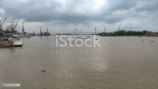 Binh bridge on Tam Bac river at Hai Phong, Vietnam