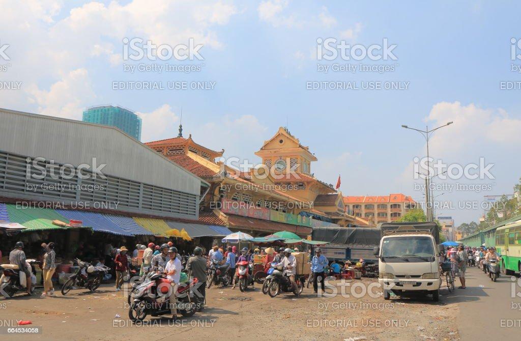 Binh Tay market Chinatown Ho Chi Minh City Saigon Vietnam royalty-free stock photo