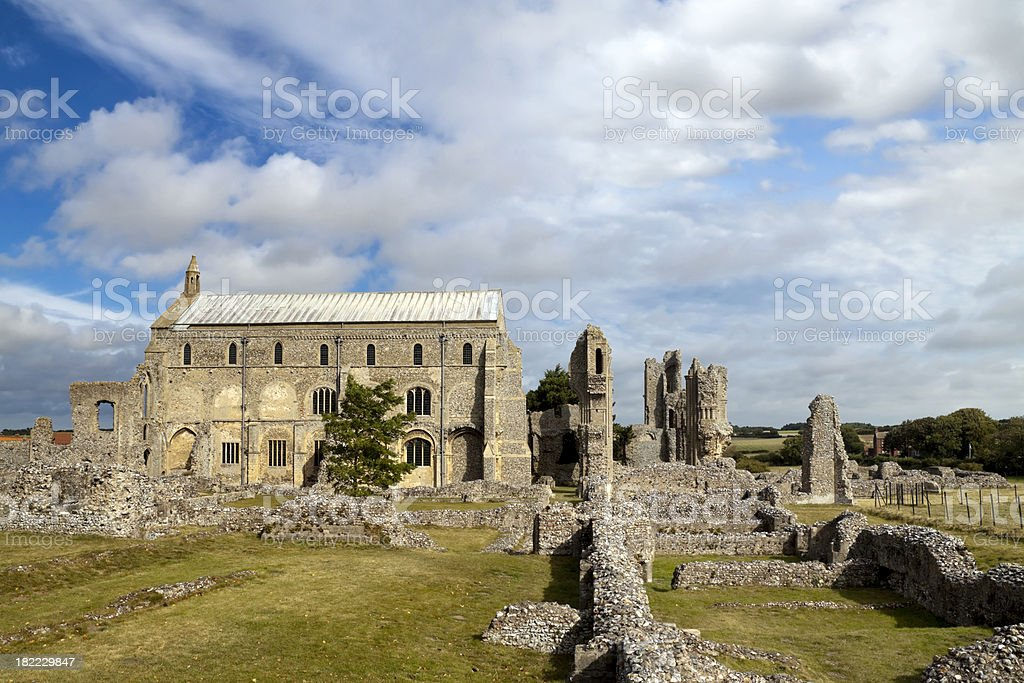 Binham Priory ruins - side view stock photo