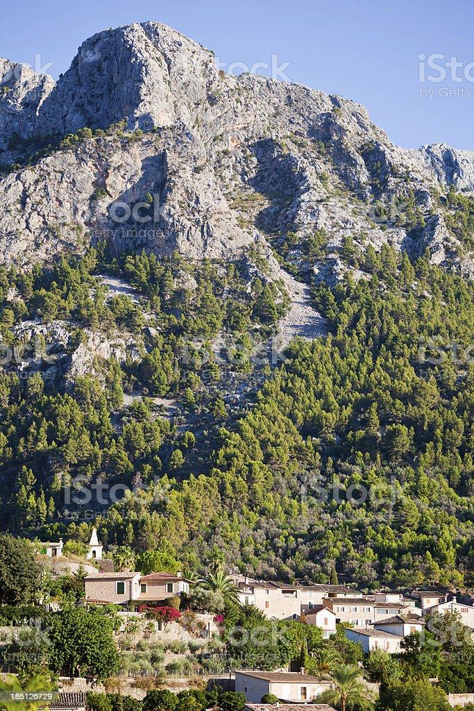Biniaraix Village Majorca royalty-free stock photo