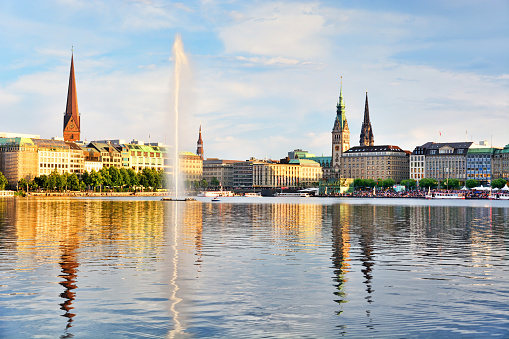 Binnenalster Lake, Hamburg