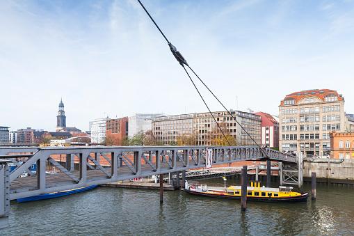 Binnenhafen, inner port of Hamburg city, Germany