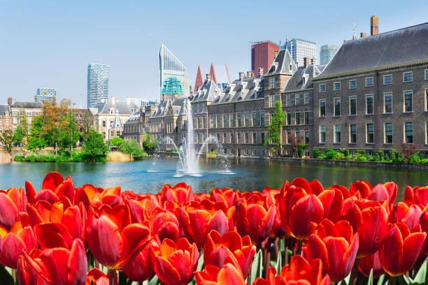Binnenhof - Dutch Parliament, Holland stock photo