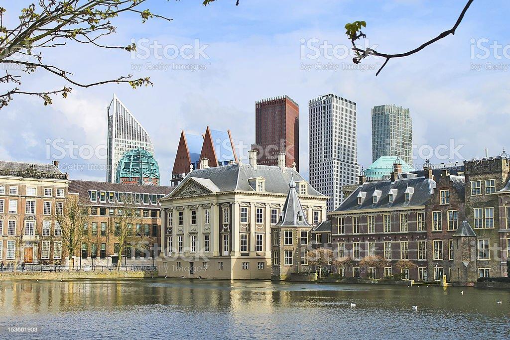 Binnenhof Palace - Dutch Parlament stock photo