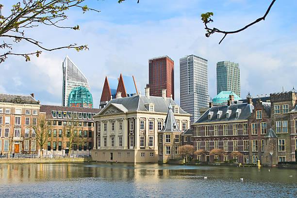 binnenhof palace - dutch parlament - den haag stockfoto's en -beelden