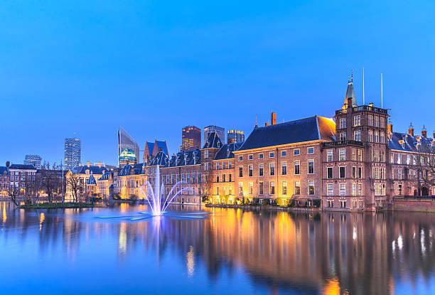 binnenhof palace in the hague (den haag) - den haag stockfoto's en -beelden