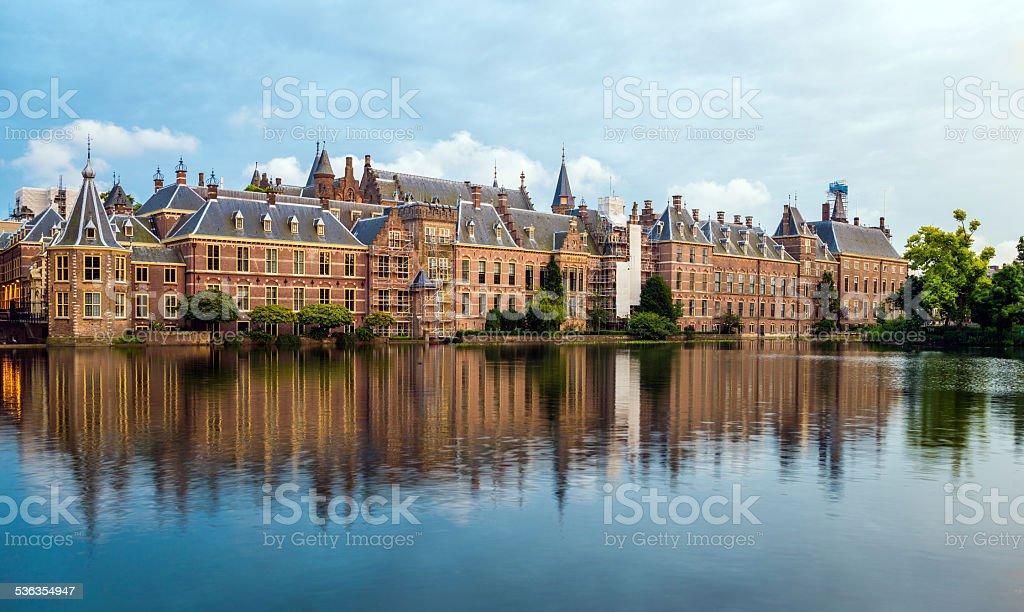 Binnenhof Palace stock photo