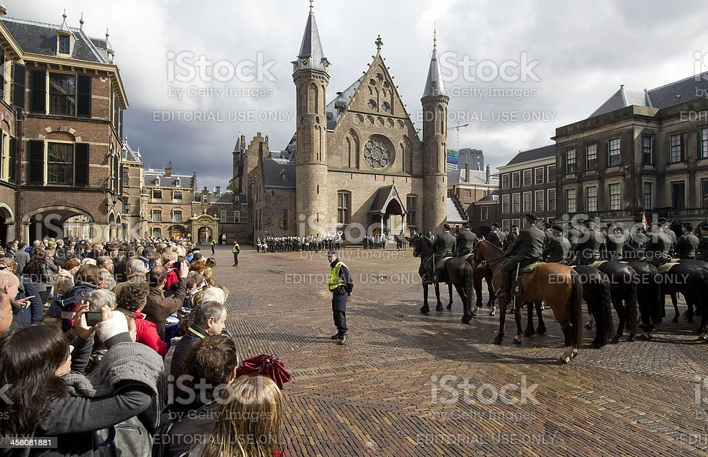 Binnenhof The Hague stock photo