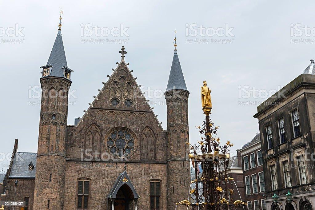 Binnenhof, The Hague stock photo