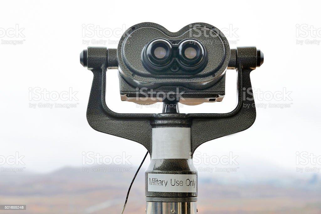 Binocular at the DMZ stock photo