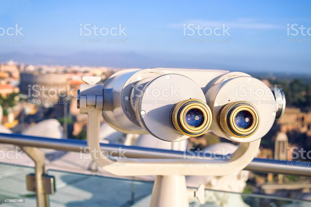 Binocular close up. stock photo