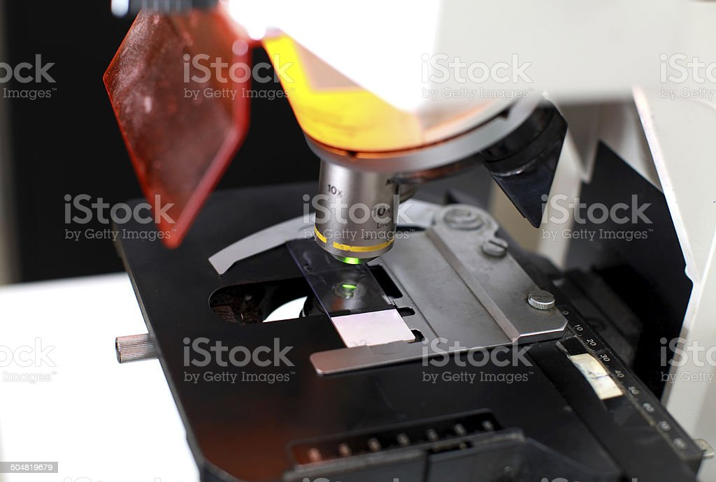 Binocular microscope stock photo
