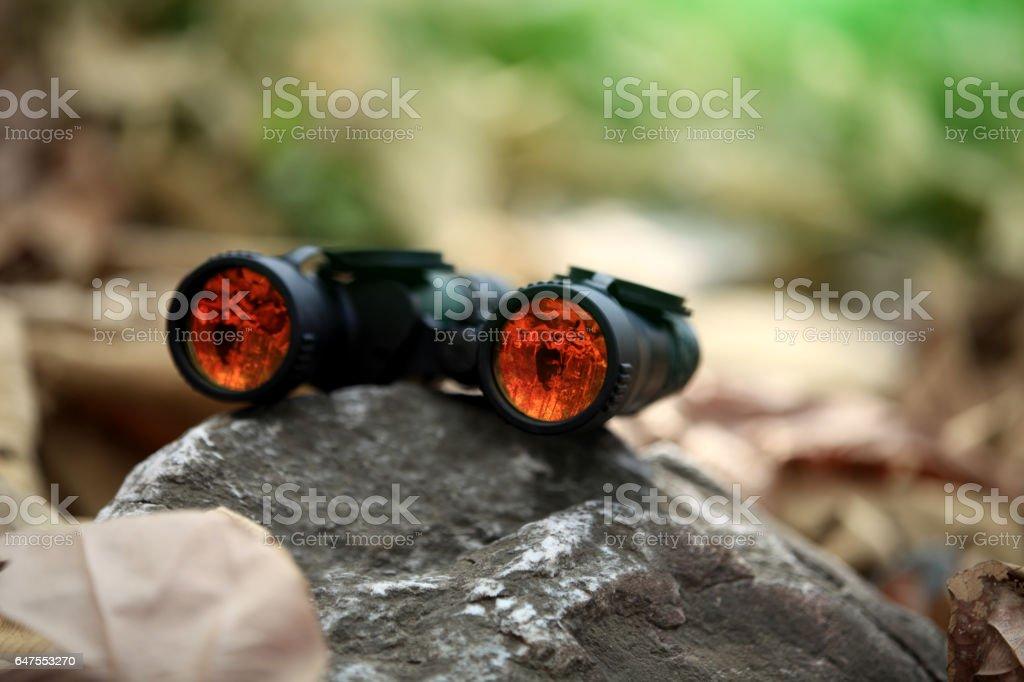 Binocular On The Rock stock photo