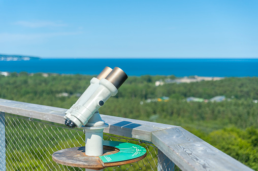 Binocular on the tree-top walk near Prora