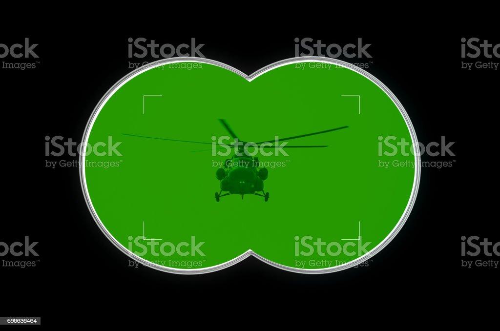 Binocular view stock photo