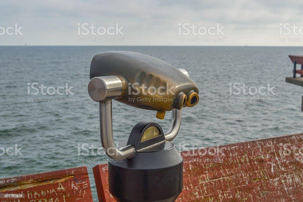 Binocular viewer in Toronto stock photo