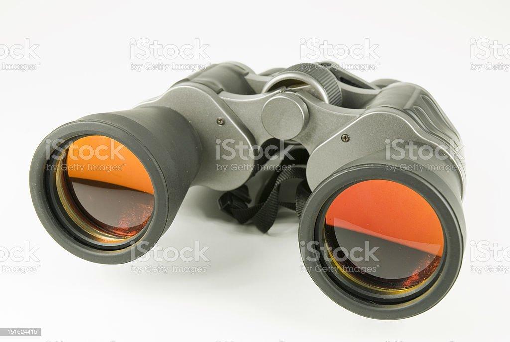 binocular with orange lens stock photo