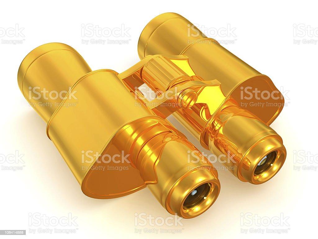 Binoculars. 3d stock photo