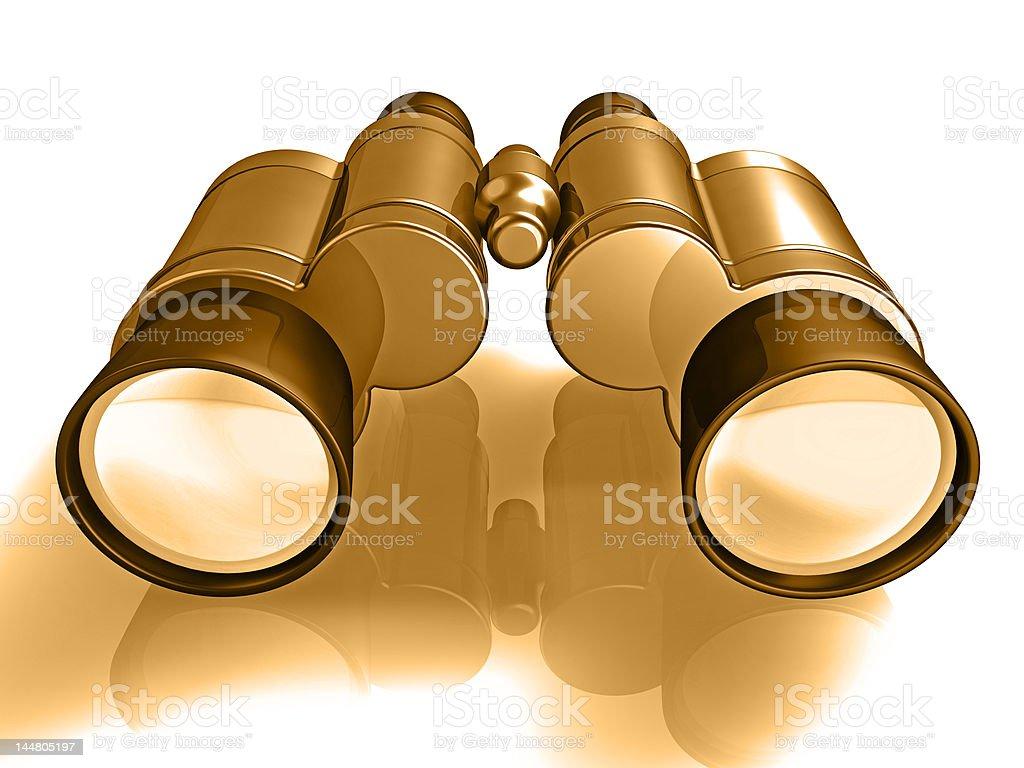 binoculars 3d stock photo