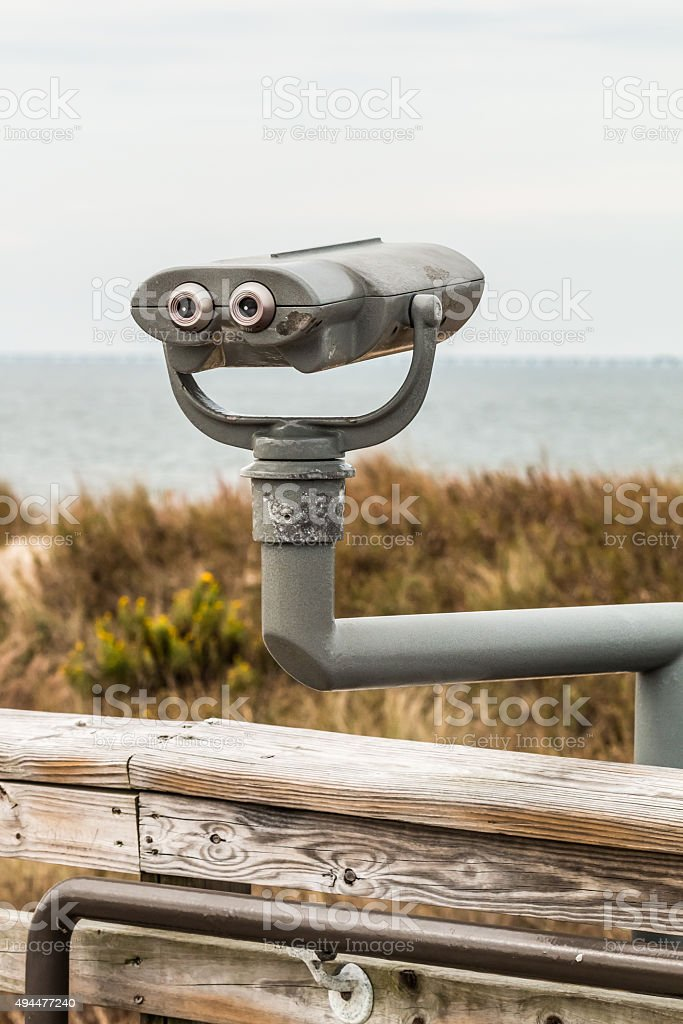 Binoculars for view of ocean at First Landing State Park beach in...