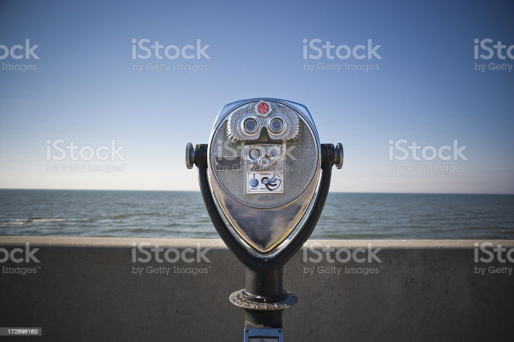 binoculars by the water royalty-free stock photo