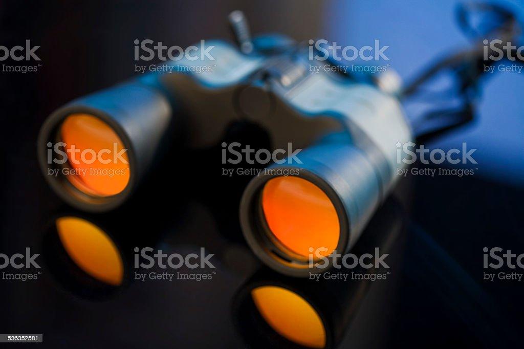 Binoculars, close-up stock photo