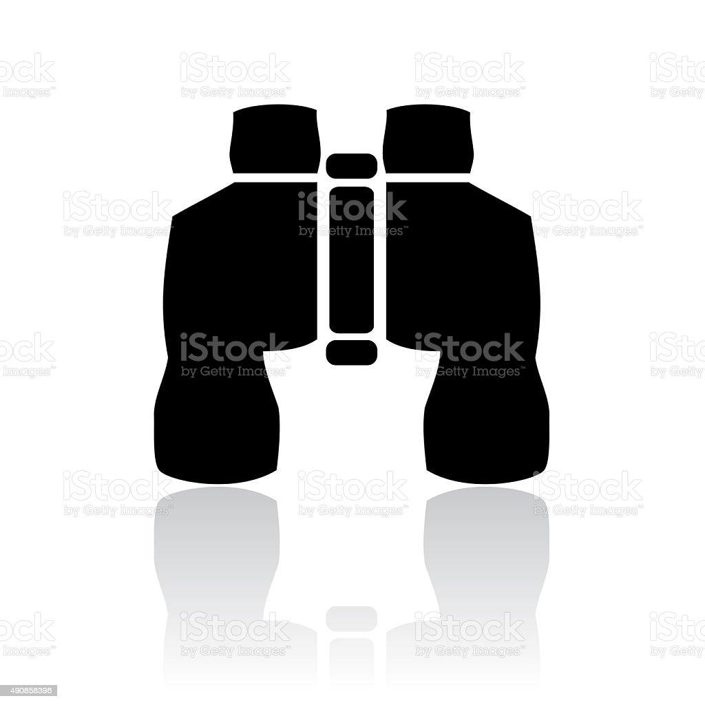 Binoculars icon stock photo