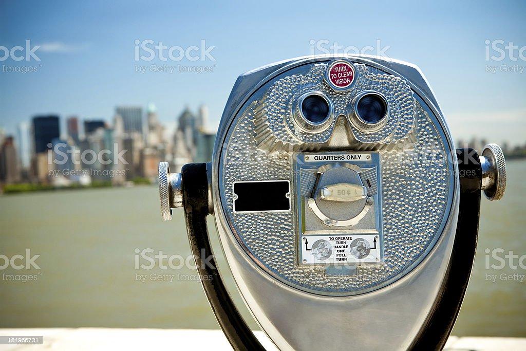 Fernglas in Ellis Island – Foto