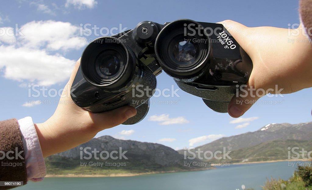 Binoculars in Mountain royalty-free stock photo
