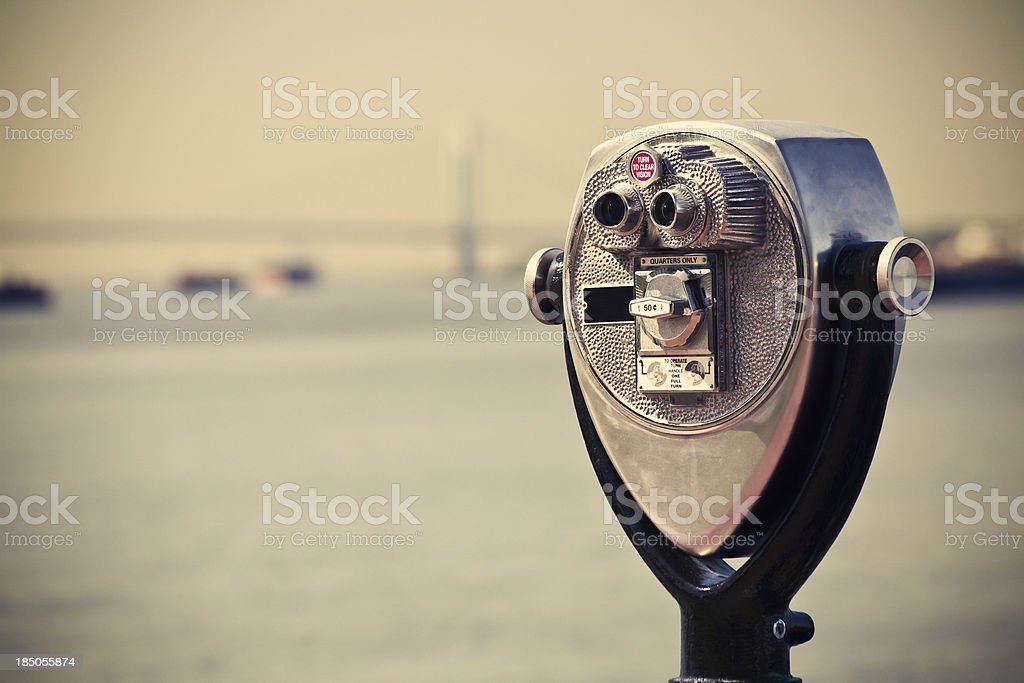 Binoculars in New York City stock photo