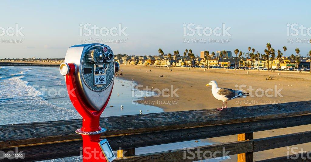 Coin Operated Binoculars On The Pier In Huntington Beach