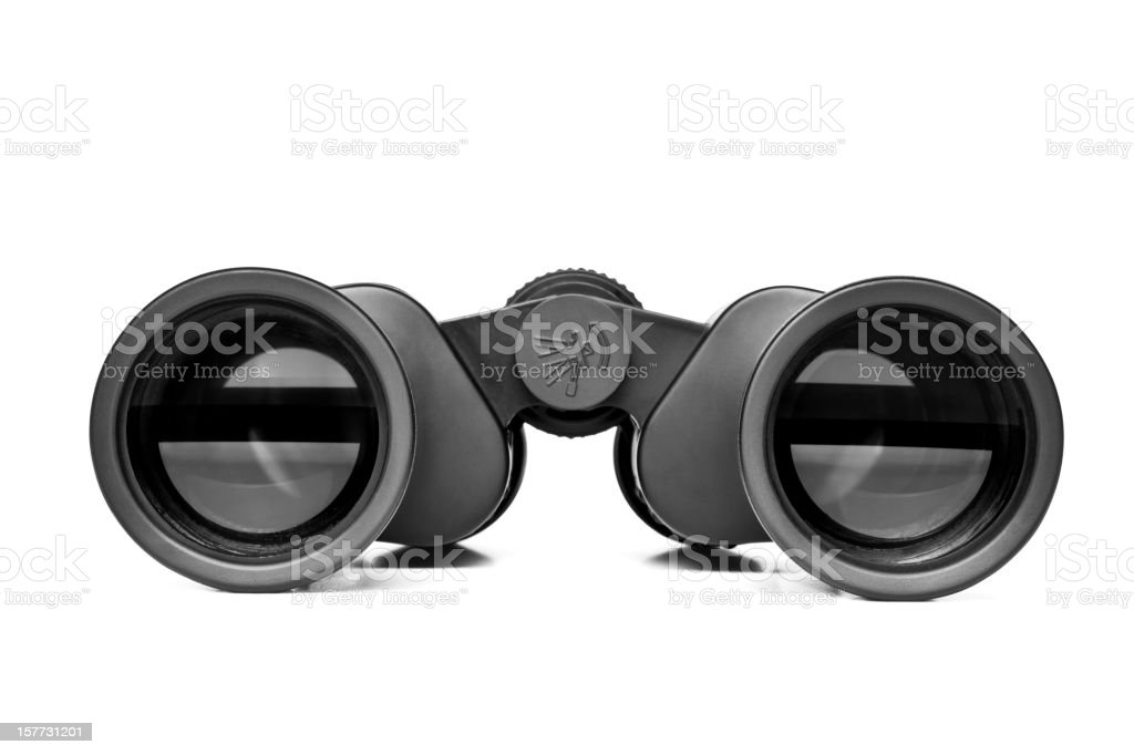 Binoculars, isolated, clipping path stock photo