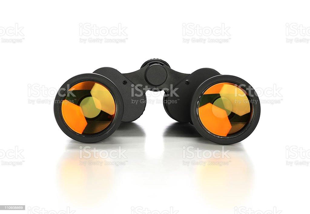 Binoculars Over White Background royalty-free stock photo