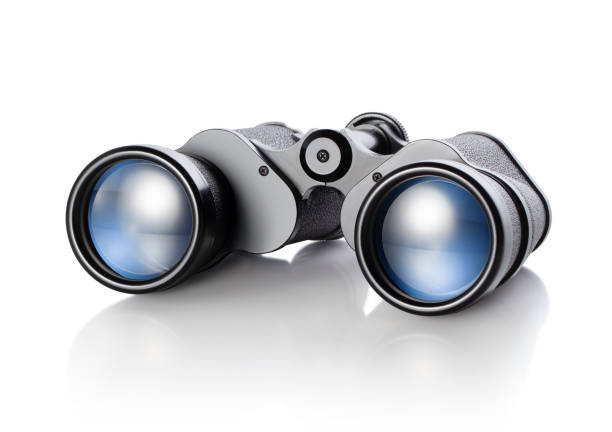 Binoculars. Photo with clipping path. stock photo
