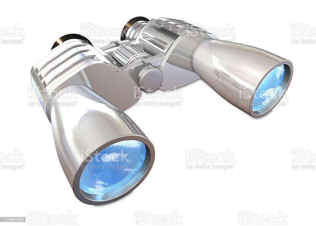 Binoculars white stock photo