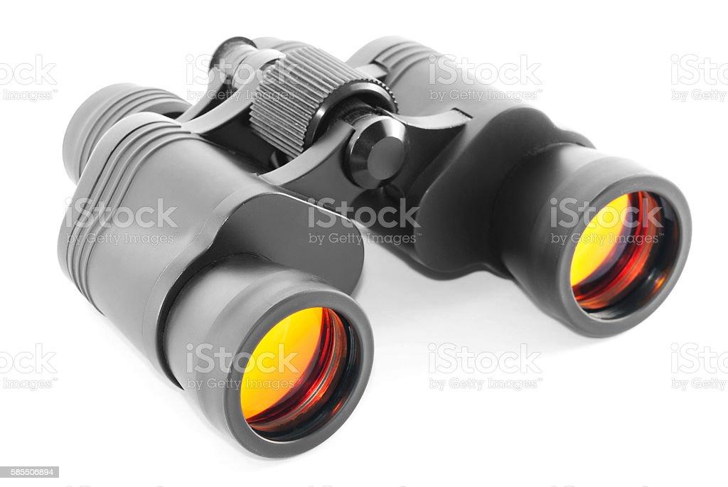 Binoculars with orange lenses stock photo
