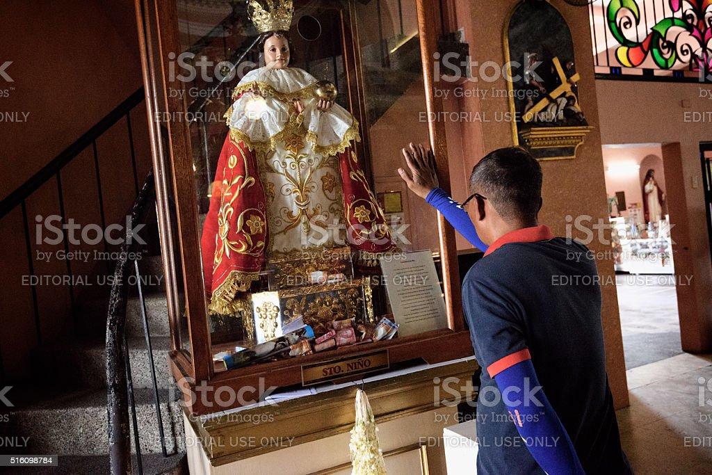 Binondo Church in Quiapo, Metro Manila, Philippines. stock photo