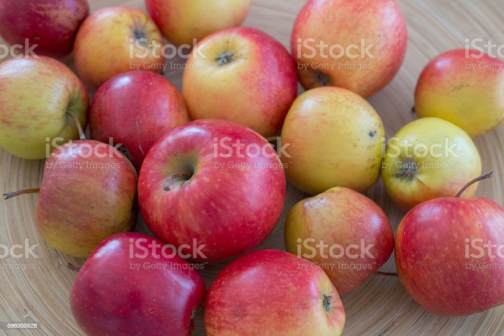 Bio Apples in a bowl royalty-free stock photo