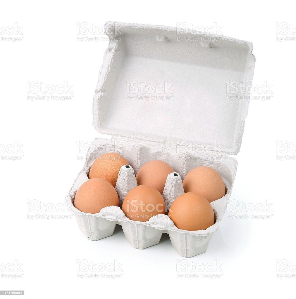 Bio eggs on white stock photo