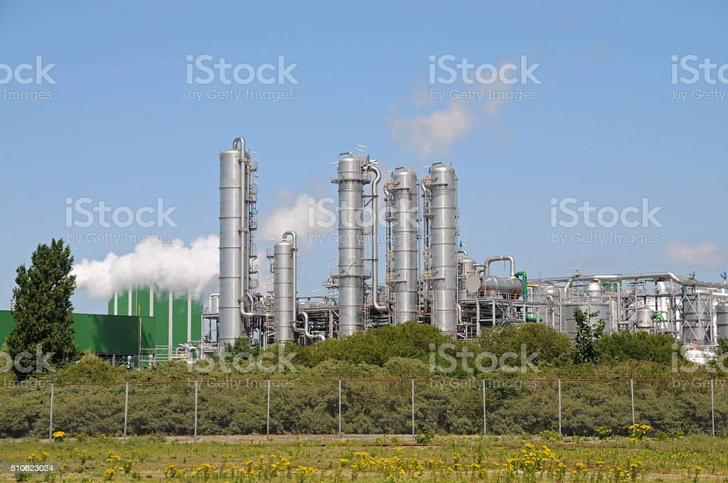 Bio ethanol plant stock photo