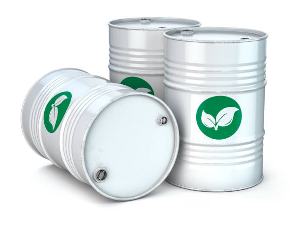 Bio fuel barrels isolated on white. Ecology,  environment protection and alternative energy concept. Bio fuel barrels isolated on white. Ecology,  environment protection and alternative energy concept. 3d illustration biofuel stock pictures, royalty-free photos & images