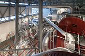 Bio fuel boiler in a modern power plant