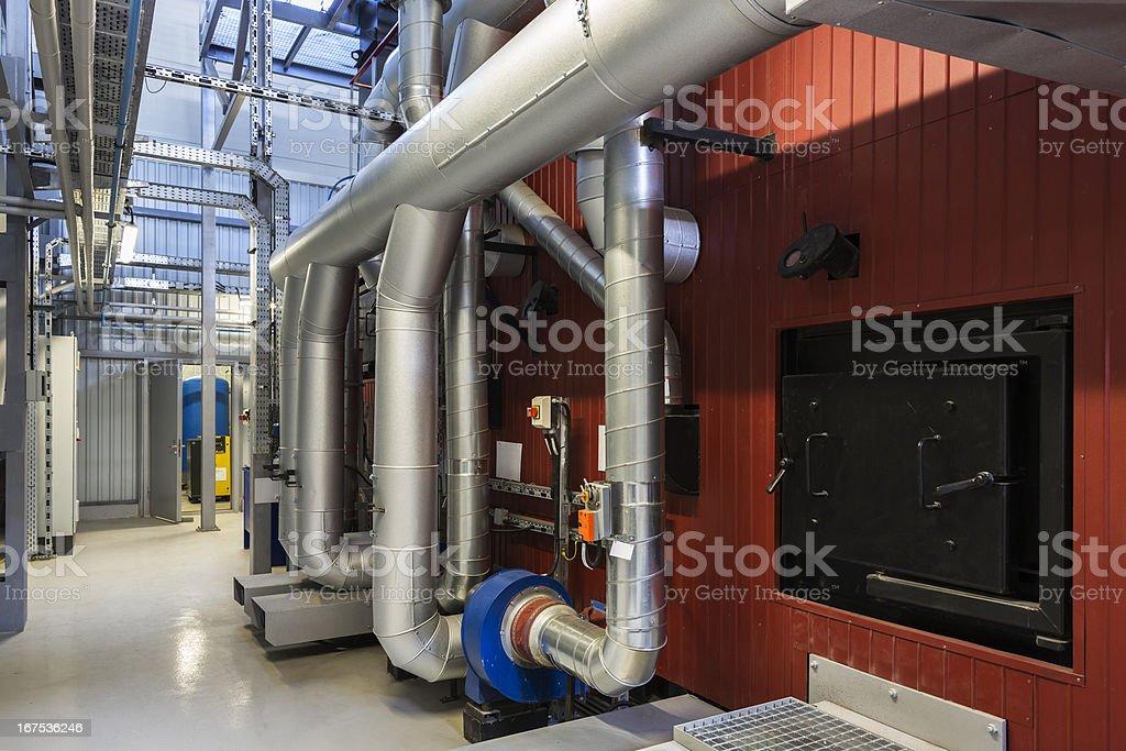 Bio fuel boiler royalty-free stock photo