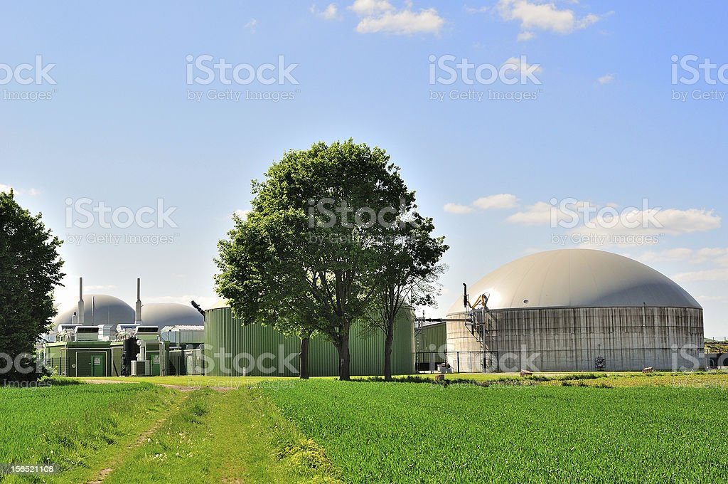 Bio fuel plant. stock photo