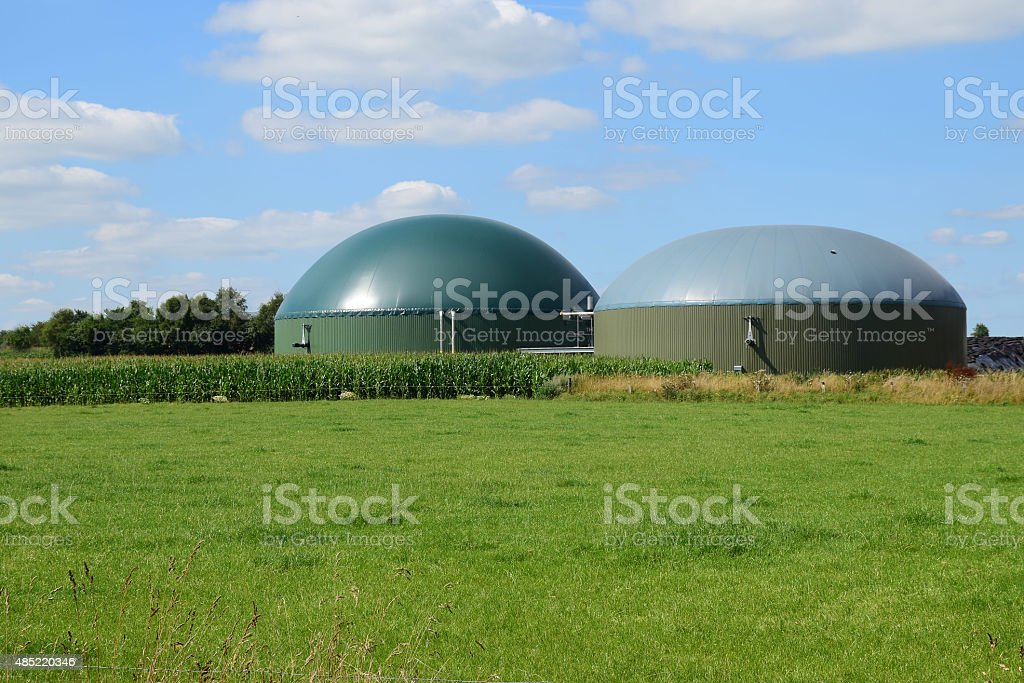 bio gas plant, renewable Resources for renewable energy stock photo