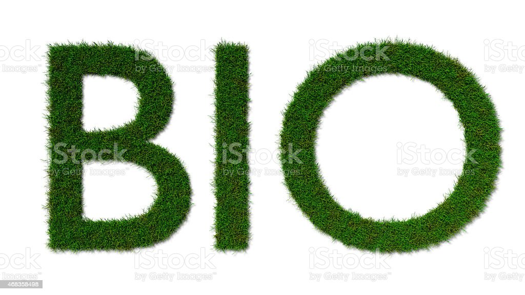 bio grass sign isolated on whit royalty-free stock photo